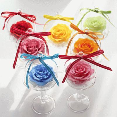 お洒落で小粋なお洒落で小粋なガラスドームのプリザーブドフラワーアレンジ Fine Rose:ファインローズ【送料無料】
