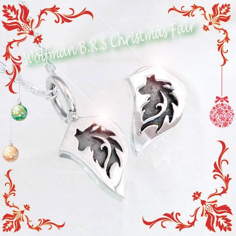 【クリスマスコーディネート特別プライス】ウルフヘッドプレート(ネックレス&ピアス)