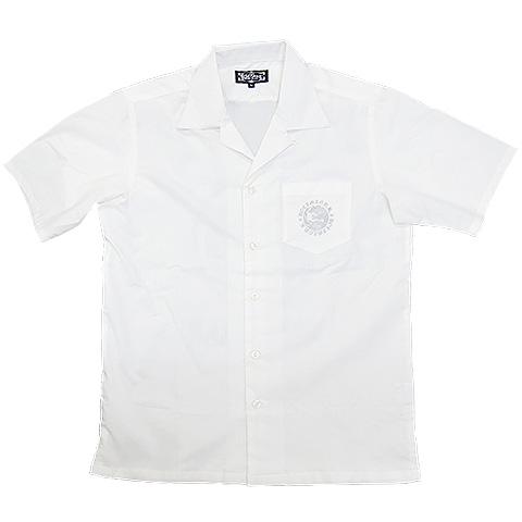 ムーンウルフ綿麻オープンカラーシャツ