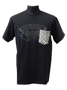 モノグラムポケットTシャツ/ブラック