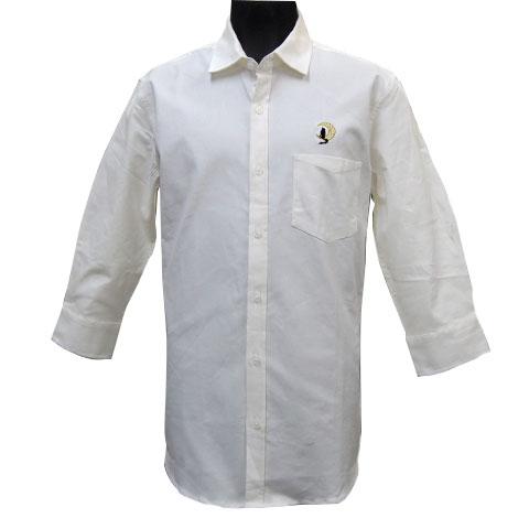 ウルフムーン七分袖ストレッチシャツ/ホワイト