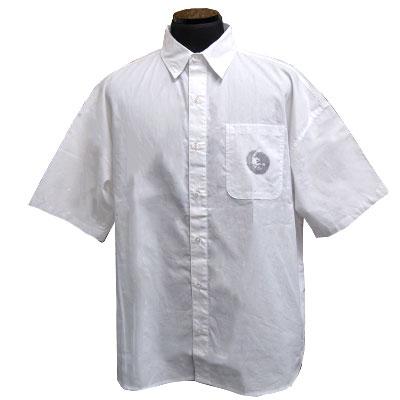 ビッグシルエットムーンウルフブロードシャツ ホワイト