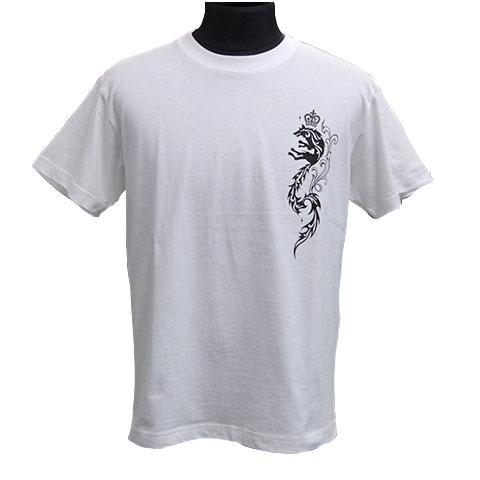 クラウンウルフTシャツ/ホワイト
