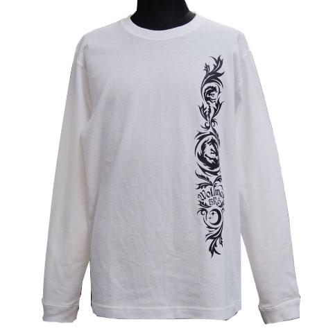 ムーンウルフロングスリープTシャツ/ホワイト