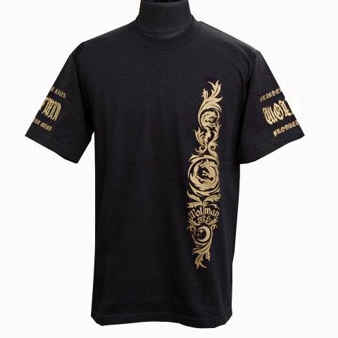 ムーンウルフヘビーウエイトTシャツ/ブラック