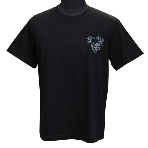 ムーンウルフグラデーションTシャツ/ブラック