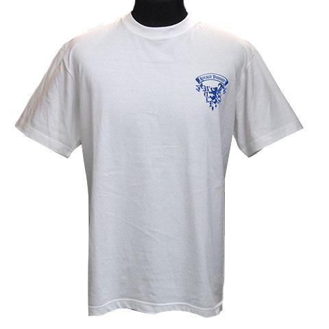 ムーンウルフグラデーションTシャツ/ホワイト