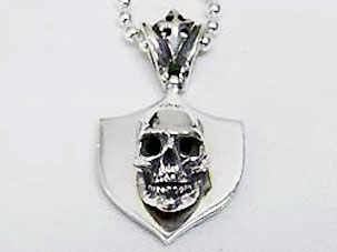 Star Knights Shield & Skull Pendant