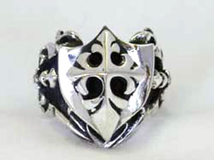THE STAR KNIGHT RING WITH CRUSADER CROSS