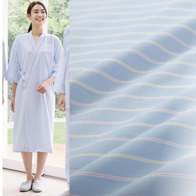 KAZEN(カゼン) 289-98 ストライプ患者衣ガウン