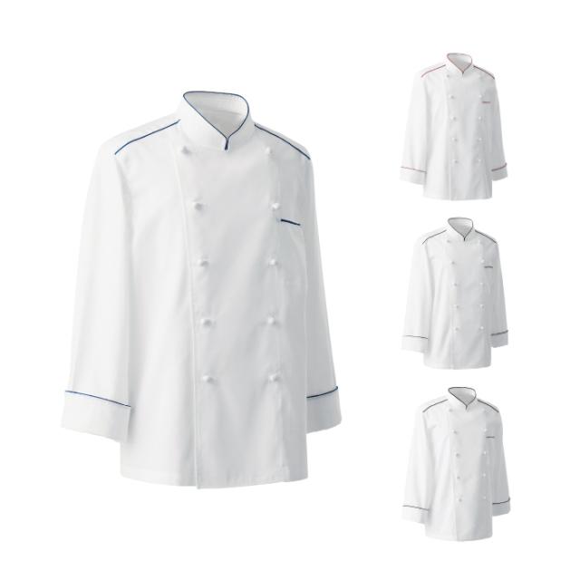 SEVEN(白洋社)BA1081 男女兼用コックコート 長袖
