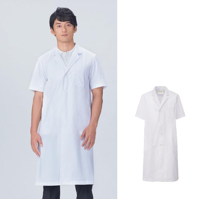 KAZEN(カゼン) 112-30 メンズ診察衣 シングル型 半袖