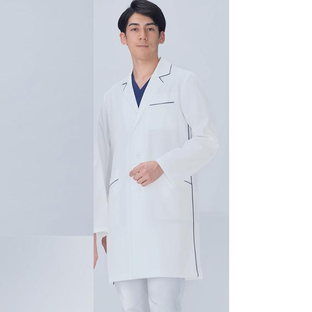 KAZEN(カゼン) 114-18 メンズコード診察衣(ハーフ丈)