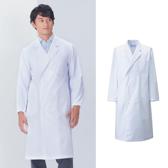 KAZEN(カゼン) 115-30 メンズ診察衣 ダブル型 長袖