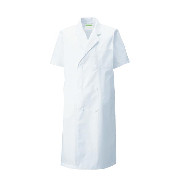 KAZEN(カゼン) 117-30 メンズ診察衣ダブル型 半袖