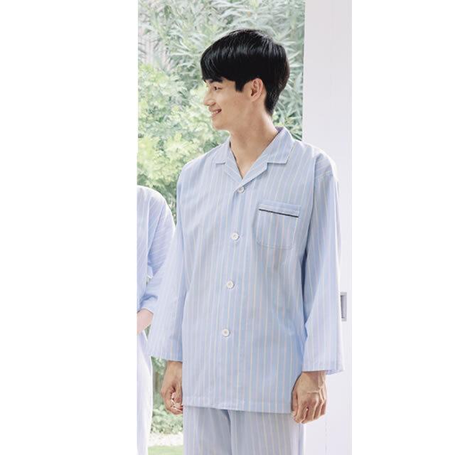 KAZEN(カゼン) 218-98 ストライプ患者衣(パジャマ型)