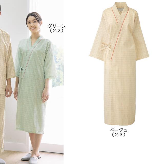 KAZEN(カゼン) 289-22・289-23 チェック 患者衣ガウン