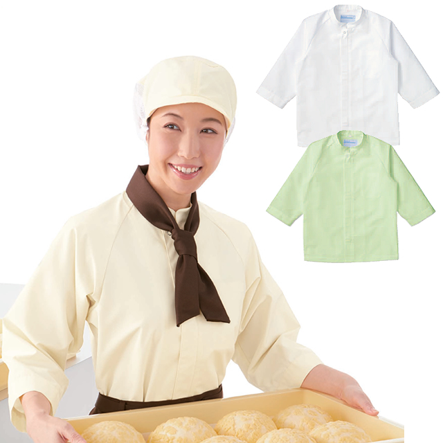 KAZEN(カゼン) APK205 シャツコート 七分袖