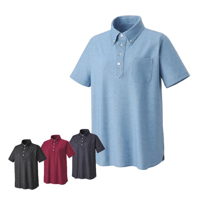 KAZEN(カゼン) APK239 ニットシャツ(男女兼用)