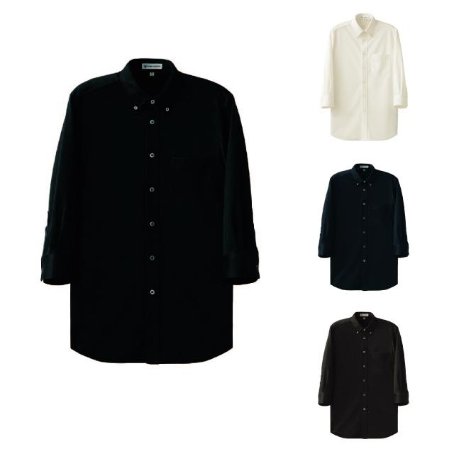 SEVEN(白洋社) CH4496 男女兼用7分袖ボタンダウンニットシャツ