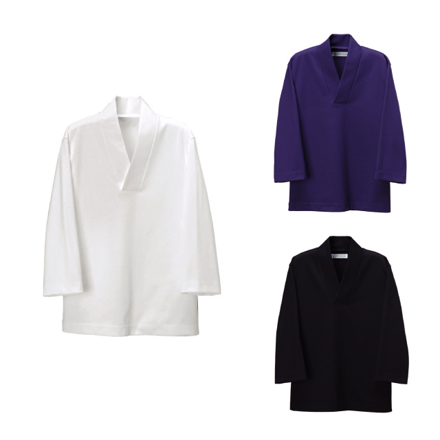 SEVEN(白洋社) EU3290 男女兼用ニットシャツ(和)