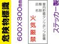 危険物標識 Kス83「屋内貯蔵タンクポンプ設備 火気厳禁」