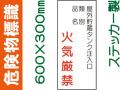 危険物標識 Kス85「屋外貯蔵タンク注入口 火気厳禁」