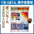 くるっぱくん 熱中症看板 レベル表 KL-S001L