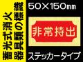 蓄光式消火器具類の標識 AAS18「非常持出」