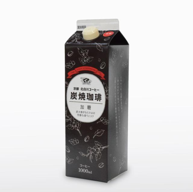 京都北白川珈琲 炭焼珈琲 加糖1000ml