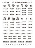1/80 国鉄配給車代用標記インレタ 東北(1)