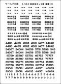 1/80 濃硫酸タンク車 車番(1) インレタ