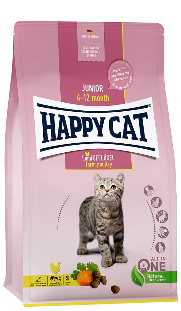 HAPPY CAT ジュニア ファーム ポリトリー (平飼いチキン) 300g