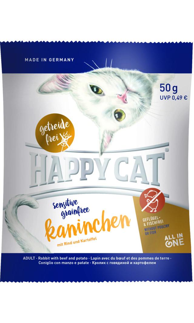 HAPPY CAT グレインフリー カニンヘン(ラビット&ビーフ)穀物不使用 - 50g