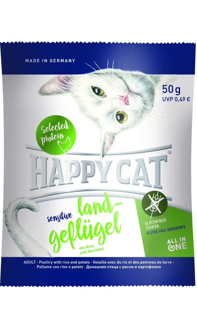 HAPPY CAT ビオ ゲフルーゲル(オーガニックチキン) グルテンフリー - 50g 【ネコポス可】