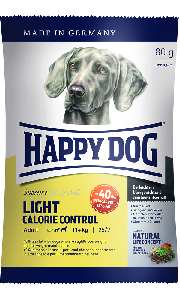 HAPPY DOG ライト カロリーコントロール - 80g 【ネコポス可】
