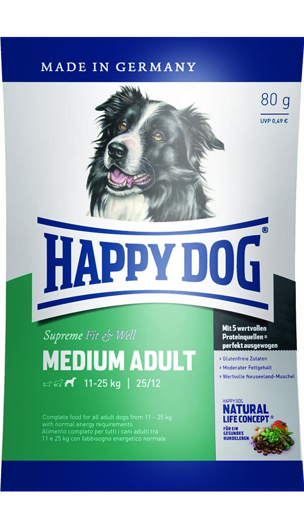 HAPPY DOG ミディアム アダルト - 80g 【ネコポス可】