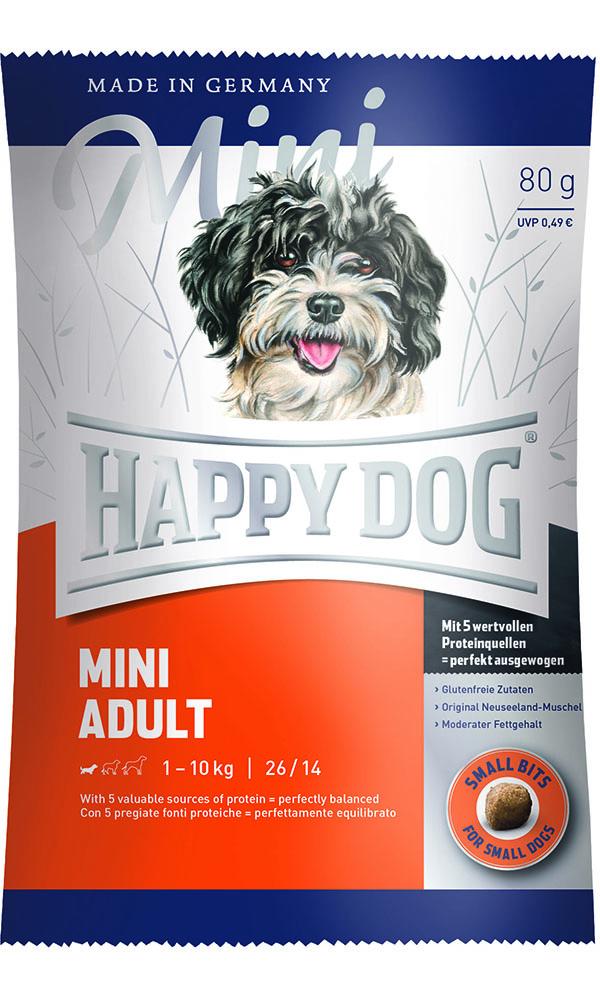 HAPPY DOG ミニ アダルト - 80g 【ネコポス可】