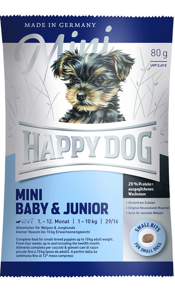 HAPPY DOG ミニ ベビー&ジュニア - 80g 【ネコポス可】