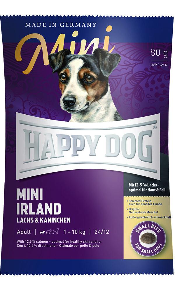 HAPPY DOG ミニ アイルランド(サーモン&ラビット)スキンケア - 80g