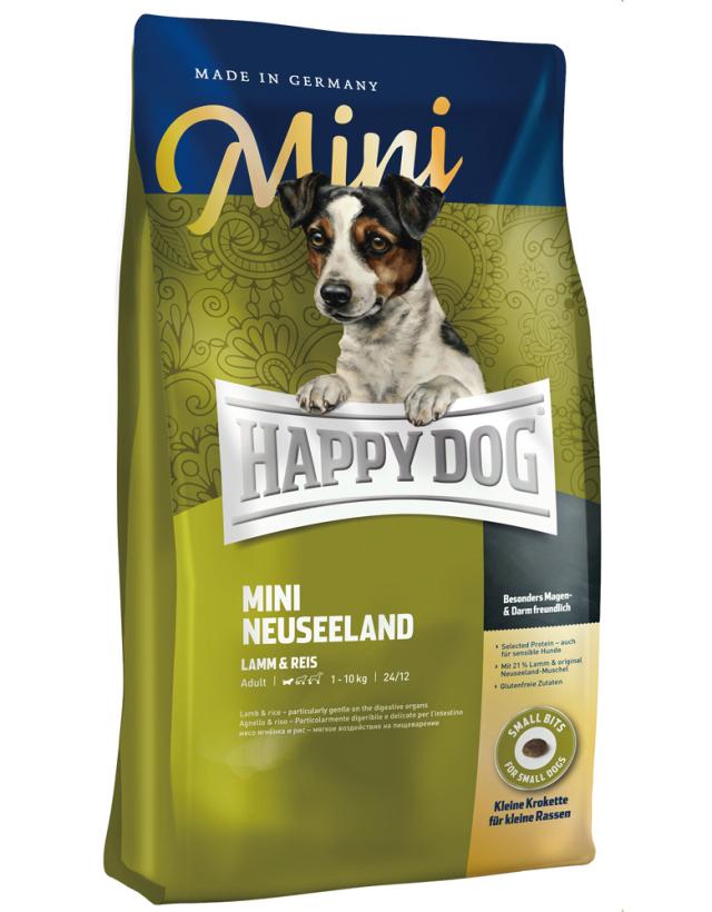 HAPPY DOG ミニ ニュージーランド(ラム&ライス)消化器ケア - 300g
