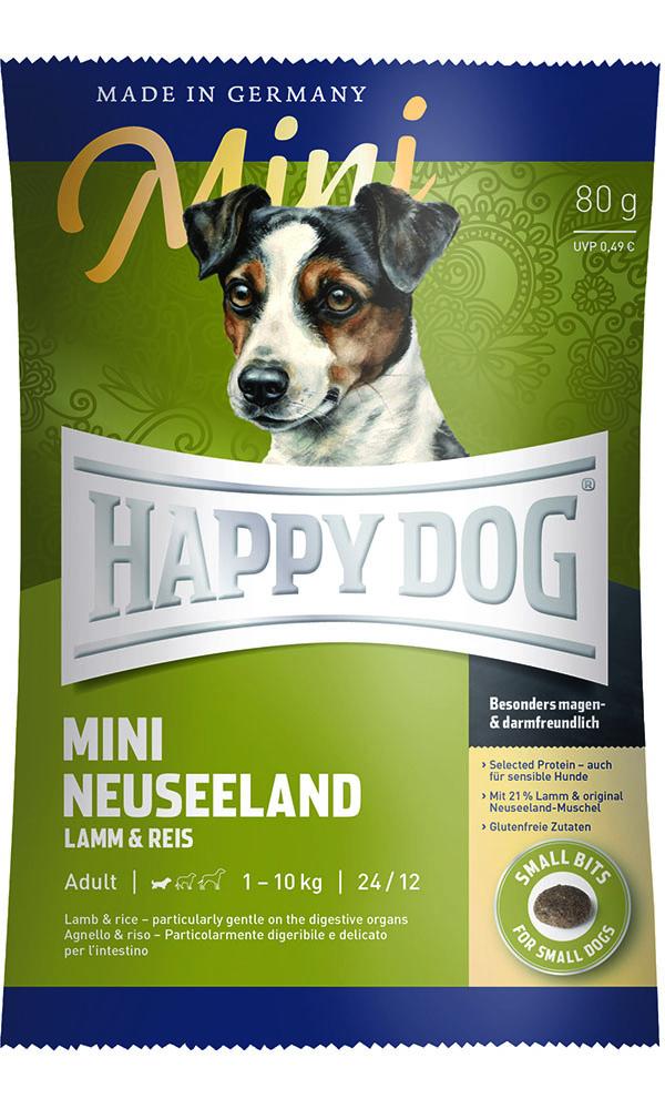 HAPPY DOG ミニ ニュージーランド(ラム&ライス)消化器ケア - 80g