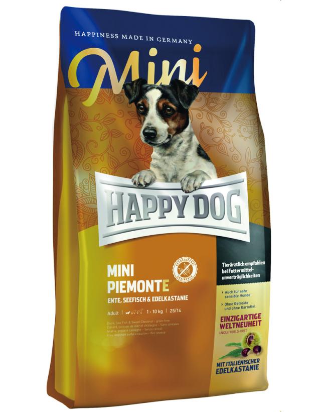 HAPPY DOG ミニ ピエモンテ(栗、ダック&シーフィッシュ)グレインフリー - 300g