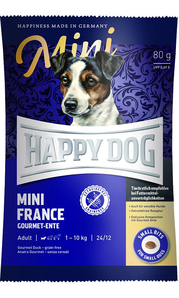 HAPPY DOG ミニ フランス(鴨肉)グレインフリー - 80g 【ネコポス可】