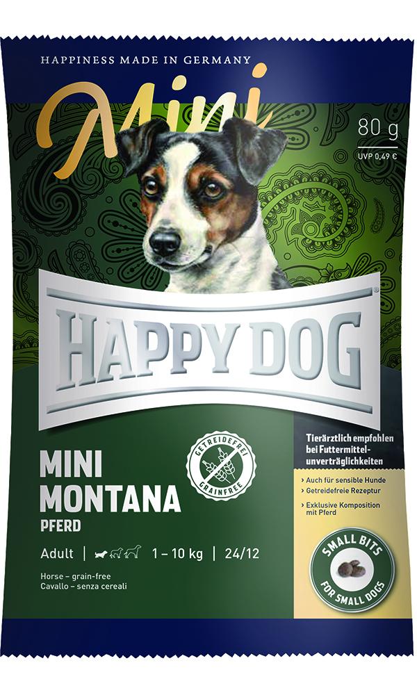 HAPPY DOG ミニ モンタナ(馬肉)グレインフリー - 80g