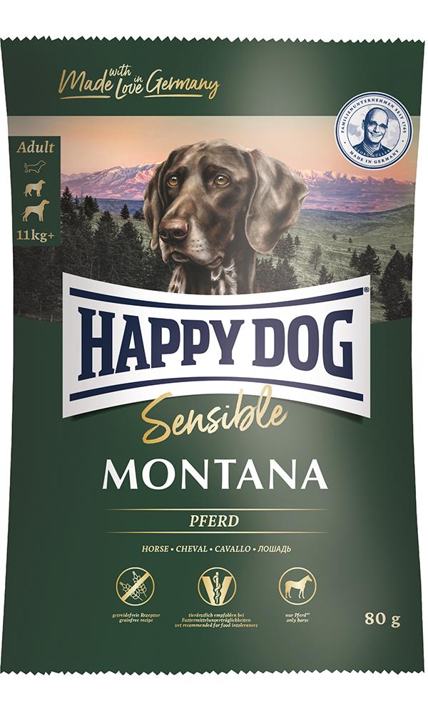 HAPPY DOG モンタナ(馬肉)グレインフリー - 80g 【ネコポス可】