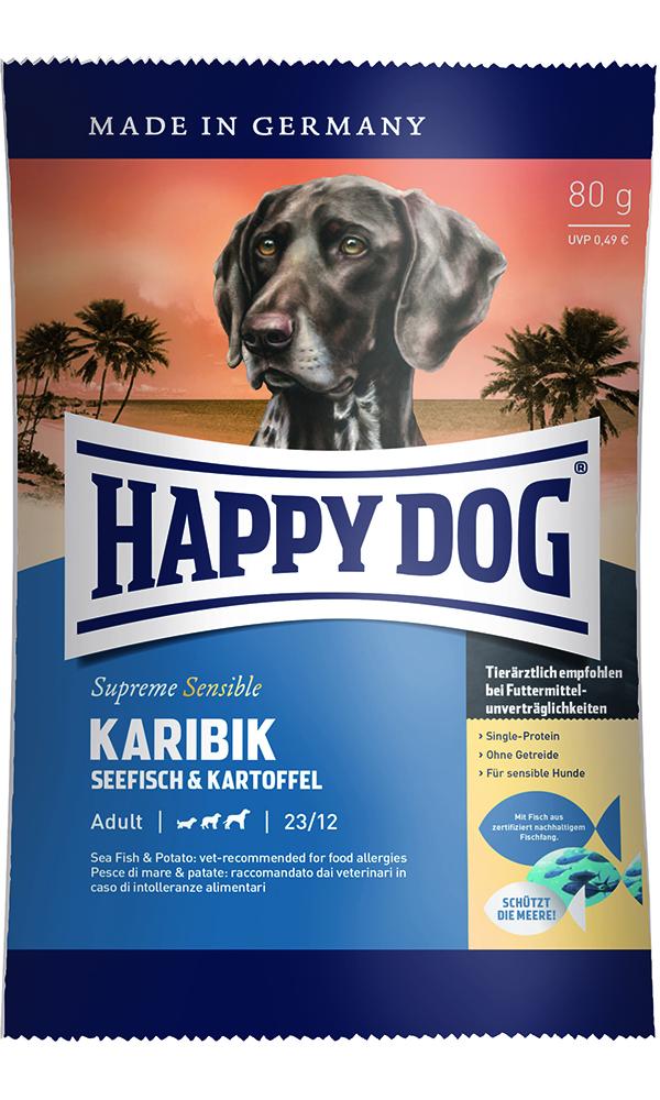 HAPPY DOG カリビック(シーフィッシュ)アレルギーケア - 80g 【ネコポス可】