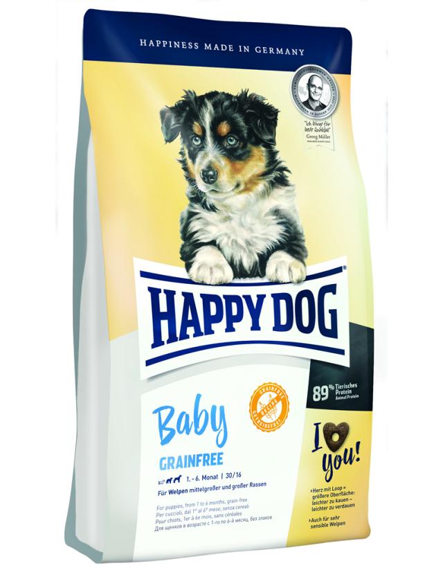 【定期購入】 HAPPY DOG ベビー グレインフリー (穀物不使用) - 1kg