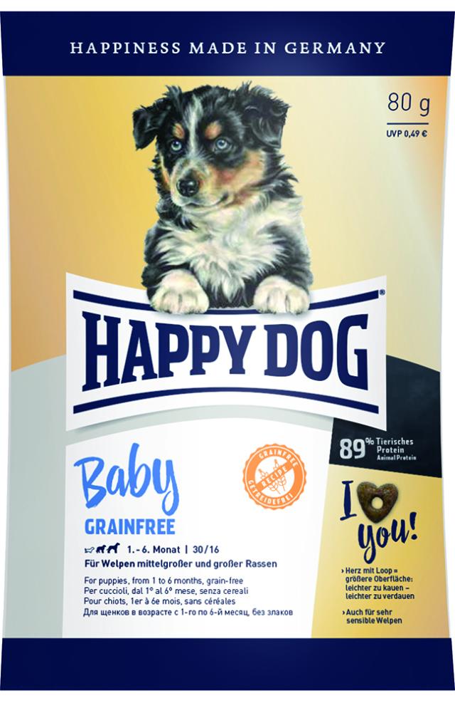 HAPPY DOG ベビー グレインフリー (穀物不使用) - 80g 【ネコポス可】