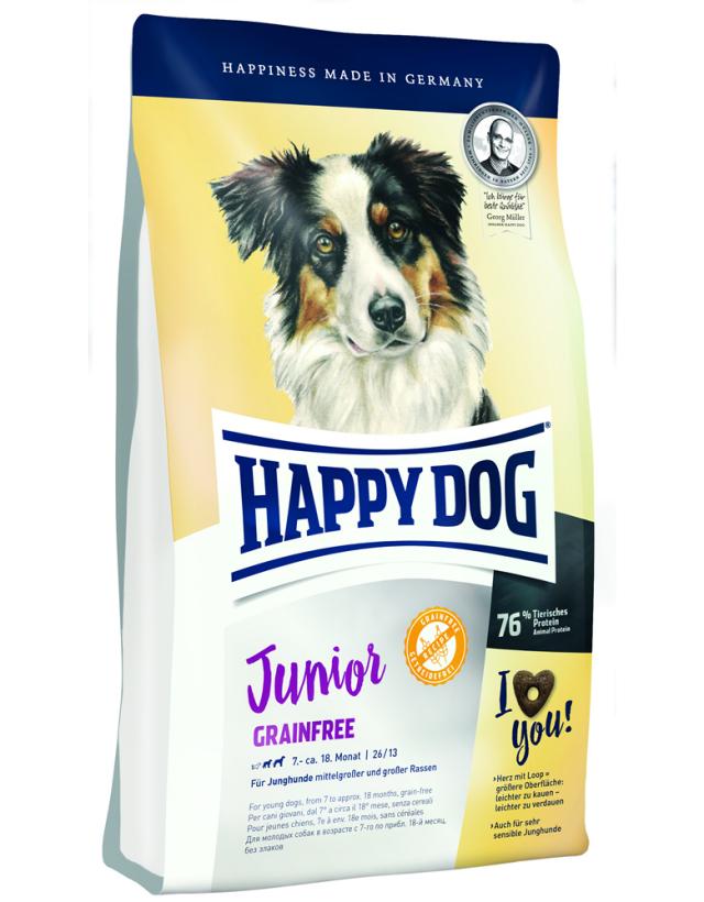 【定期購入】 HAPPY DOG ジュニア グレインフリー (穀物不使用) - 1kg